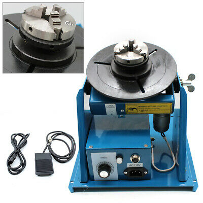 10kg Rotary Welding Positioner Turntable Table 2.5 3 Jaw Lathe Chuck 2-10 Rpm