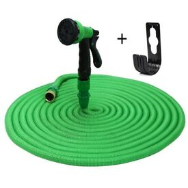 Expandable Garden Hose Stretch Hosepipe With 8 Spray Modes Spay Gun and Hanger