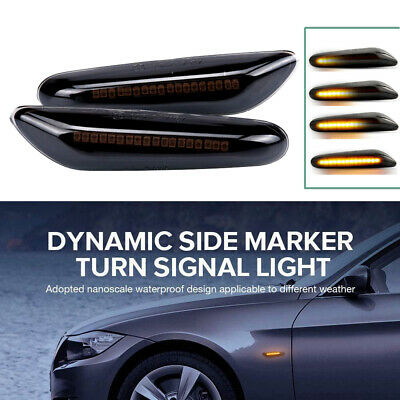Dynamic LED Side Indicator Repeater Signal Light For BMW E46 E60 E36 E87 E90 E92