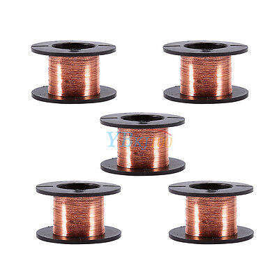 5pcs 0.1mm Copper Soldering Solder Ppa Enameled Magnet Reel Wire Length 15m