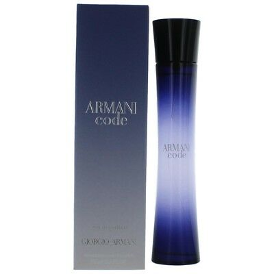 GIORGIO ARMANI CODE FOR WOMEN 75ML EAU DE PARFUM SPRAY BRAND NEW & SEALED