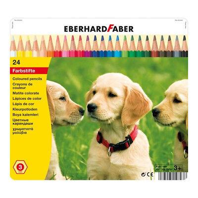 24 Buntstifte Metallbox Hunde Eberhard Faber Buntstift Schulbedarf Stifte Stift