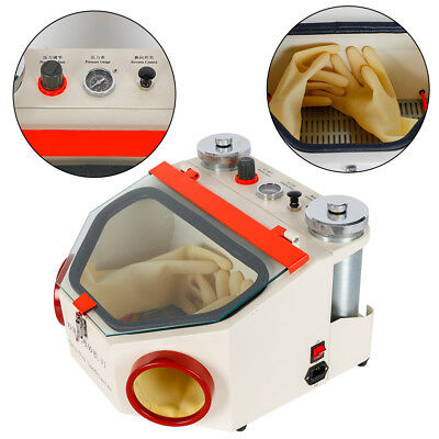 Dental Lab Twin-pen Double Pen Sand Blaster Sandblaster Unit With Led Lamp