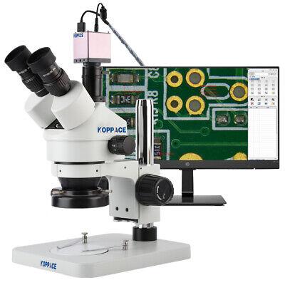 Koppace 3.5x-90x Stereoscopic Measuring Microscope 2mp Full Hd 1080p 60fps Hdmi