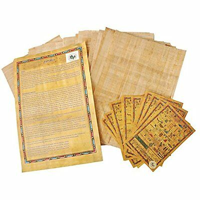 Egyptian Papyrus Blank Paper Set Of 10 Sheets Art Projects Scrapbooking Album - $19.98