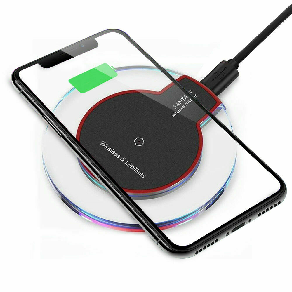 Qi Wireless Charger Charging Pad for iPhone XS/Max/XR/8/Plus