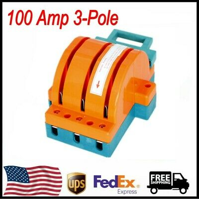 100 Amp Disconnect Knife Switch 100a 3-pole Double Throw Circuit Safety Blade