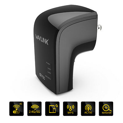 Wavlink Wireless-AC 750Mbps Wifi Repeater Dual Band 2.4G/5G WiFi Signal Booster