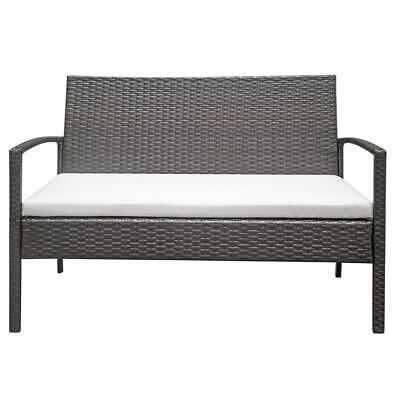 4 PCS Rattan Patio Furniture Set Garden Lawn Sofa Set /w Cushion Seat Mix Wicker 7