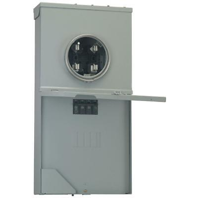 Ge Meter Socket Load Center 200 Amp 4-space 8-circuit Galvanized Steel Box