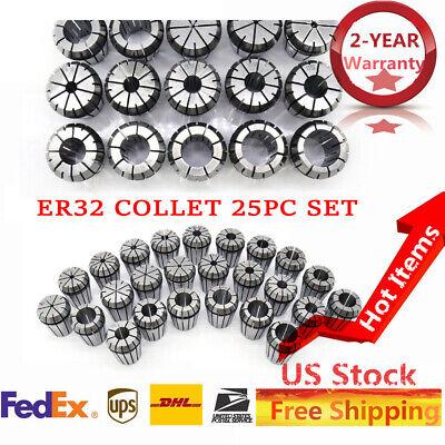 Er32 Collet Cnc 25pcs Set 116-34 16th 32nd Accuracy Bt Spring Morse Tapper