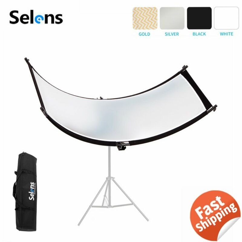 "Selens Curved Light Studio Reflector for Portrait Headshot Photography 23""x70"""