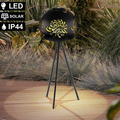 LED solar stand ball lamp 3-leg outdoor lamp black-gold decor die-cut light