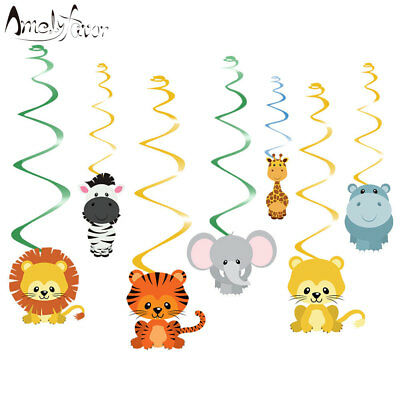 Safari Animal Jungle Ceiling Hanging Decorations Boy Baby Shower Party Supplies](Party Ceiling Decorations)