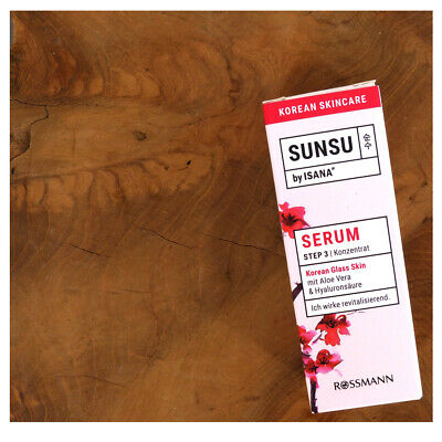 Koreanische Pflege SUNSU Serum Konzentrat Korean Glass Skin Aloe Vera & Hyaluron