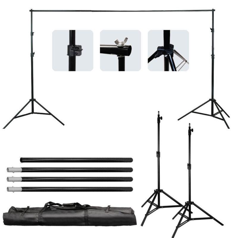 Photography Studio Adjustable Background Support Stand Photo Crossbar Studio Kit