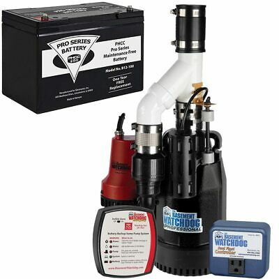 Basement Watchdog Cite-33 - 13 Hp Combination Primary And Backup Sump Pump S...
