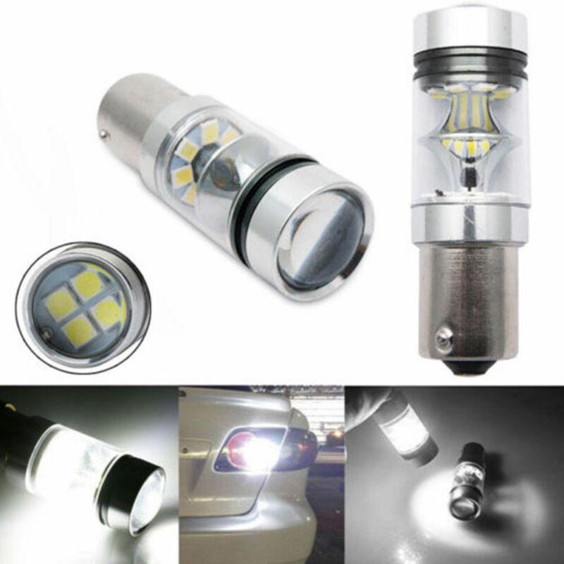 100W 2X 1156 BA15S 382 P21W CREE XBD WHITE LED STOP REVERSE LIGHT CANBUS Bulbs @