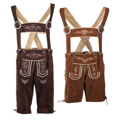 German Bavarian Oktoberfest Costume Men's Lederhosen Suspenders Shorts](Men's Oktoberfest Costumes)