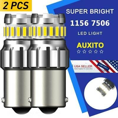 AUXITO 7506 LED 1156 Ba15s P21W 100W 6K WHITE Backup Reverse Light Bulb 2400LM E