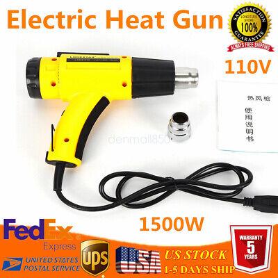 Heat Gun Kit W Lcd Screen Hot Air Adjustable Temperature Heavy Duty Heat Guns