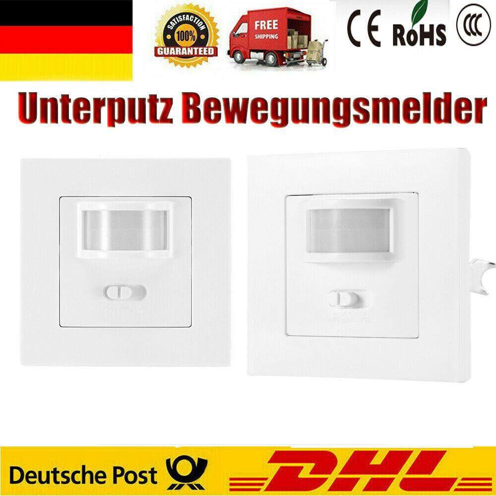 Für LED Geeignet IR Unterputz Bewegungsmelder 160° Schalterdose 2 Draht-10m