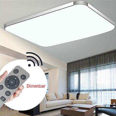 72W LED Ultraslim Deckenleuchte Schlafzimmer Deckenlampe Dimmbar Wohnzimmer