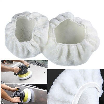 4 Pcs Soft Wool Car Clean Waxing Polishing Polisher Buffer Buffing Bonnet Pad