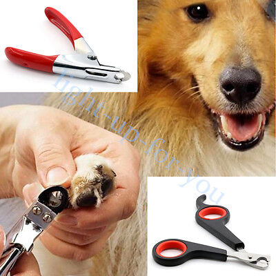 Pet Dog Cat Stainless Steel Nail Toe Claw Clippers Trimmers Cutter Scissors
