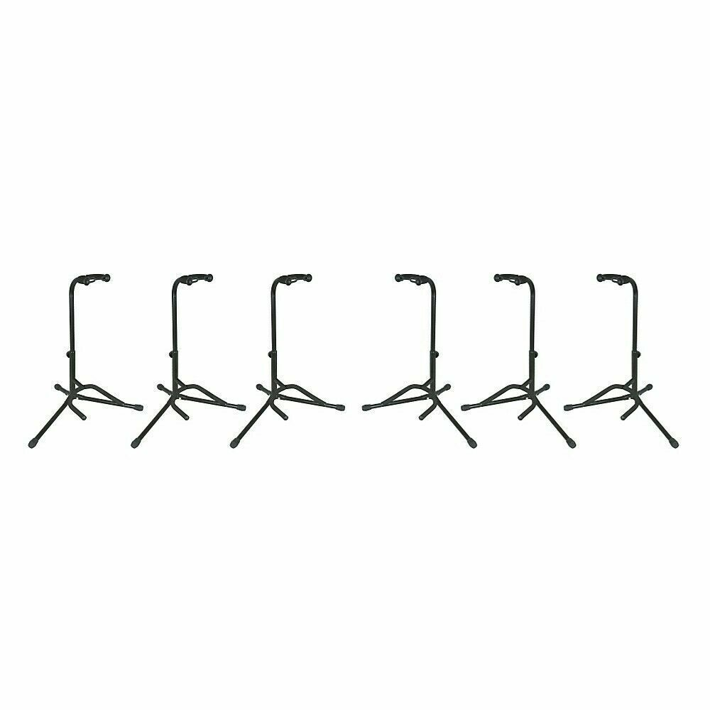 Musician s Gear Electric, Acoustic And Bass Guitar Stands 6-Pack  - $99.98