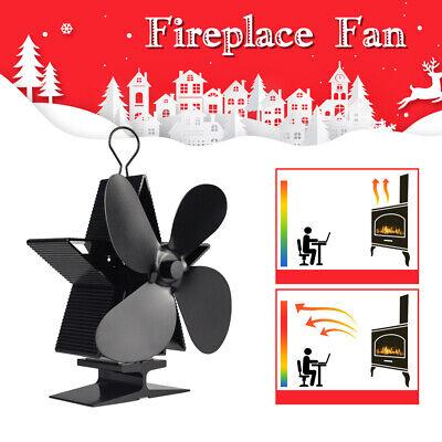 1350rpm Eco Friendly Heat Powered Wood Stove Fan Blower Log Burner Fireplace Fan