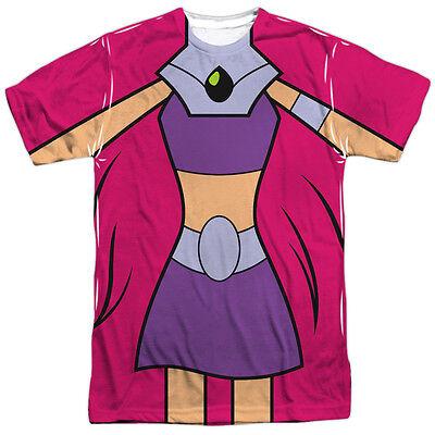 TEEN TITANS GO STARFIRE COSTUME Front Print Halloween Men's Tee Shirt - Teen Titans Go Halloween