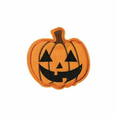 pkin (Iron On) Embroidery Applique Patch Sew Iron Badge (Halloween Pumpkin Patch)
