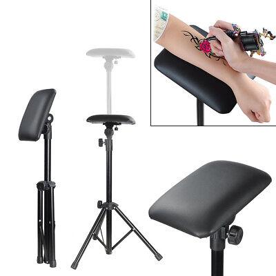 Height Adjustable Tattoo Tripod Stand Arm Leg Rest Studio Chair Sponge Pad Tool