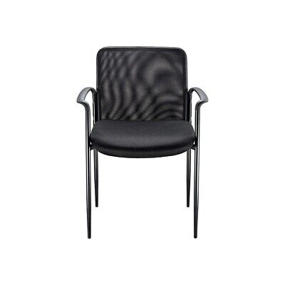 Myofficeinnovations Roaken Mesh Guest Chair With Arms Black 204116