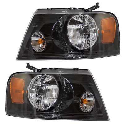 ITASCA ELLIPSE 2006 2007 2008 2009 2010 BLACK HEADLIGHT HEAD LAMPS NEW - SET