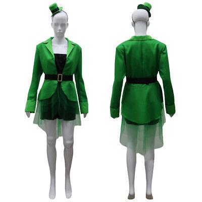 Leprechaun Lass Costume Irish St Patrick's Day Fancy Cosplay Dress Coat - Patrick Fancy Dress
