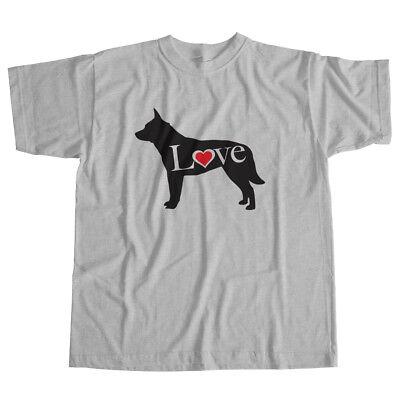 Australian Cattle Dog Puppy (I Love Australian Cattle ACD Blue Heeler Dog Pet Lover Puppy Unisex Tee T-Shirt )