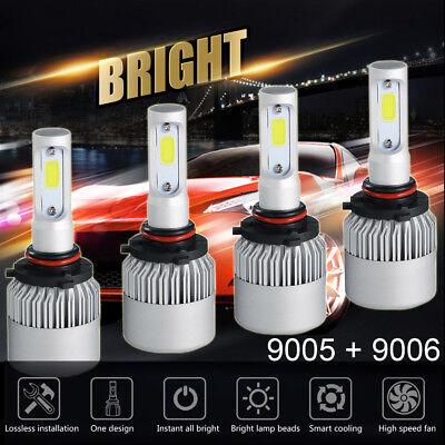 9006+9006 Combo LED Headlight Bulb 2600W For Honda Civic 2004-2013 High Low Beam