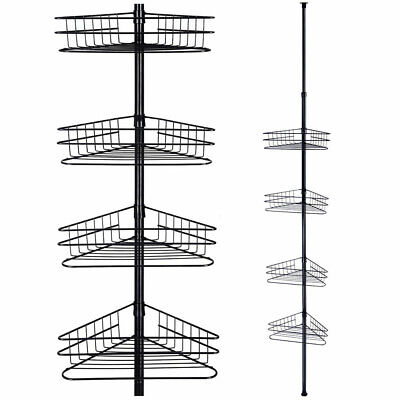 Metal 4 Tier Corner Shower Caddy Bath Shelf Wall Rack Storage Organizer