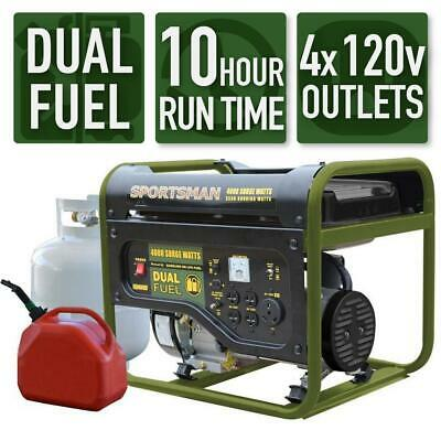 Sportsman 4000-w Portable Dual Fuel Gas Powered Generator Home Backup Rv Camping