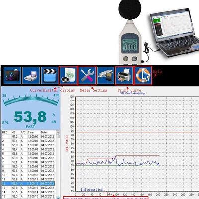 Digital Sound Pressure Tester Level Meter Decibel Noise Measurement Lcd Display