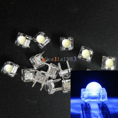 20PCS 5mm F5 Piranha LED Blue Round Head Super Bright VC nice Emitting Diode