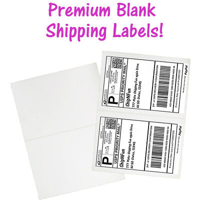 Usa Premium Self Adhesive Shipping Labels 8.5x11 Half Sheet Mailing Ups Fedex