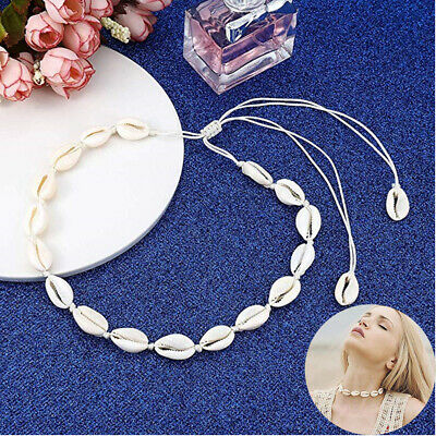Women Beach Bohemian Sea Shell Pendant Chain Choker Necklace Fashion Jewelry vn Shell Fashion Pendant