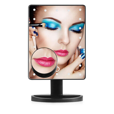 20 LED 10 Magnifying Touch Screen Light Make Up Cosmetic Table Top Vanity Mirror