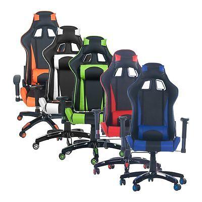 Merax Race Car style Office Gaming Chair Ergonomic Recliner Footrest Armrest Style Race Car
