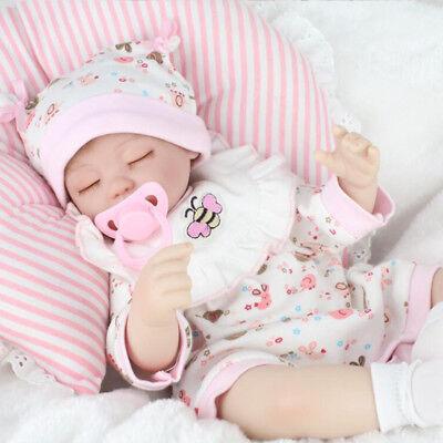 40cm Silikon Lebensecht Handgefertigt Reborn Puppe Mädchen Baby Spielzeug NPK