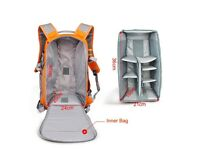 LARGE DSLR SLR Camera Bag Backpack Rucksack Case+ Raincover For Nikon Sony Canon