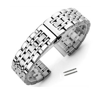 Polished Stainless Steel Metal Bracelet Clasp Replacement Watch Band Strap Polished Steel Metal